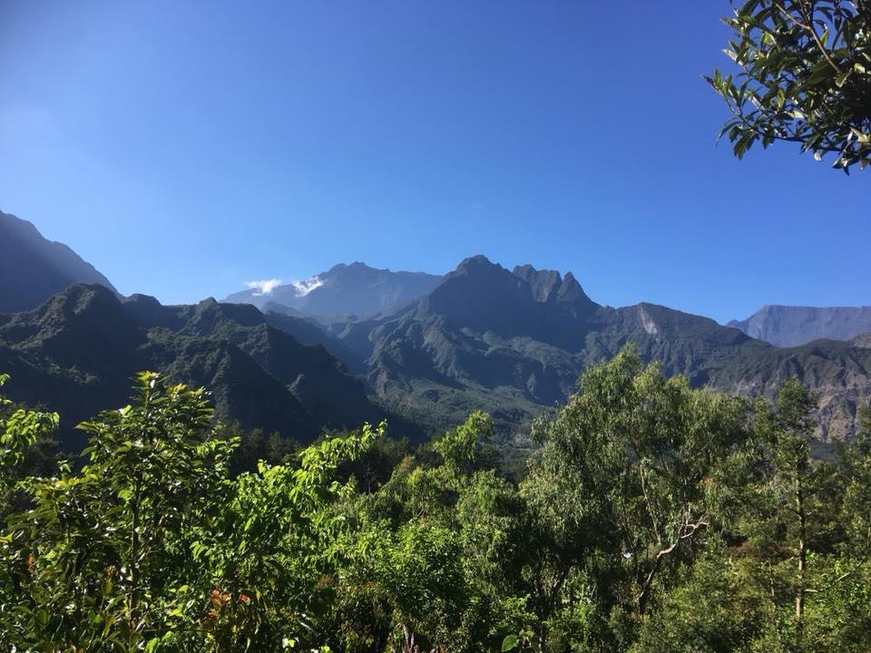 Le Morne de Fourche et le Gros Morne sur l'Ile de la Réunion